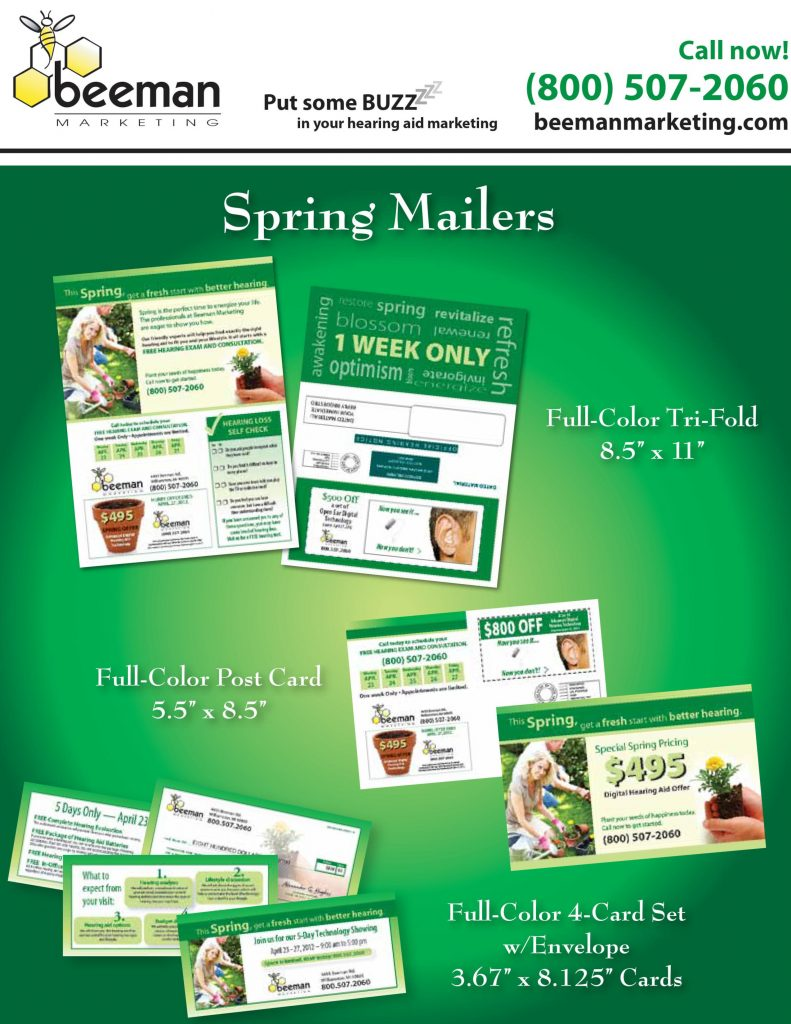 We have a variety of Spring designs to match your needs.